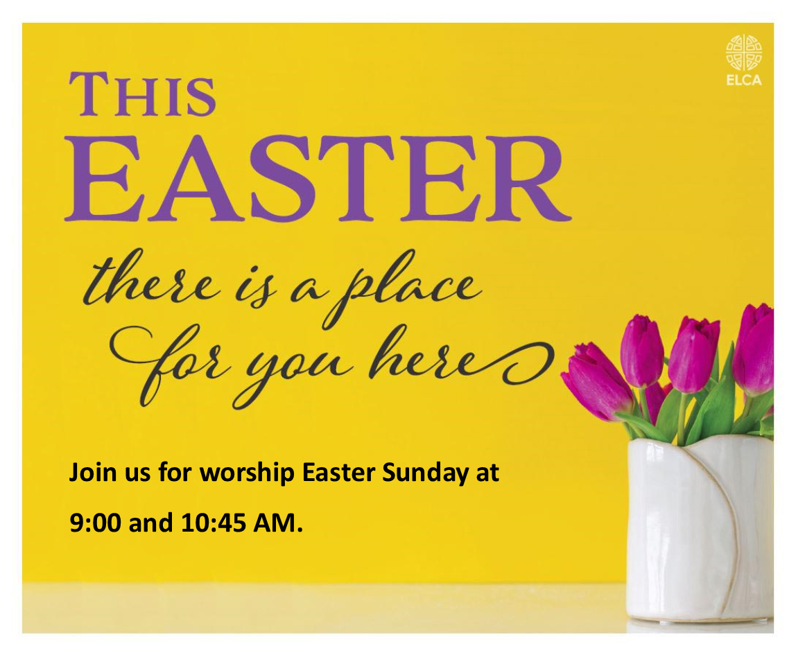 Easter with Worship times